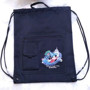 Disney Drawstring Backpack w/ Pockets NWT